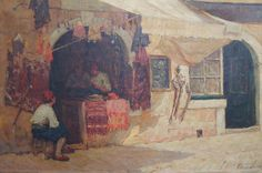 Bringing some warmth to your day; 'Sunlight and Shadow. A street in North Africa' c.1902. Terrick John WILLIAMS (1860-1936) Offered by John Robertson Fine Paintings at The Edenbridge Galleries, Kent. www.edenbridgegalleries.com
