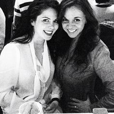 Grace Phipps with her friend.