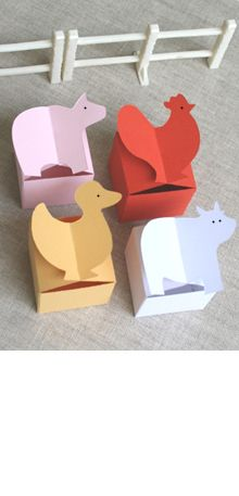 Cute animal gift boxes to make