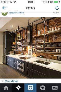 Attractive analyzed kitchen redesign Claim your birthday coupon Barn Kitchen, Loft Kitchen, Kitchen Layout, Home Decor Kitchen, Rustic Kitchen, Diy Kitchen, Kitchen Interior, Home Kitchens, Beautiful Kitchen Designs