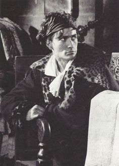 Antonin Artaud (1896-1948), French writer, playing Marat's role in the film 'Napoleon d' Abel Gance'. (1925-1927)