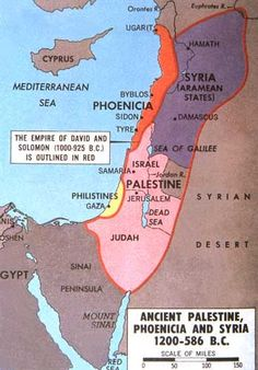 (Map) Palestine, Phoenicia and Syria 586 BCE) Heiliges Land, Cultura Judaica, Bible Mapping, Ancient Near East, Jesus Christus, Historical Maps, Ancient Civilizations, History Facts, World History
