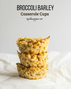 Broccoli Barley Casserole Cups - MJ and Hungryman - Austin, TX Registered Dietitian Nutritionist