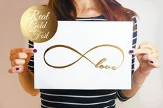 Endless Love Poster Real Gold Foil Print Gold by LovelyPosters