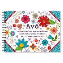 Álbum de recordações Avó floral