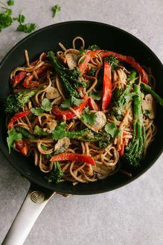 Spicy Tenderstem and Peanut Noodle Stir Fry