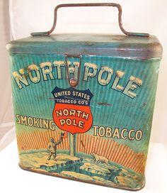 North Pole Smoking Tobacco Tin