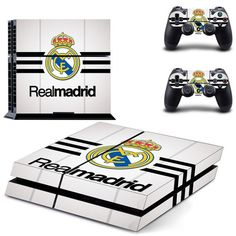 FREE SHIPPING! PS4 Real Madrid team Football fan Decal Stickers For Sony PlayStation 4 Console  2 sticks