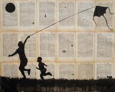 Saatchi Online Artist: Loui Jover; Pen and Ink, 2013, Drawing flying