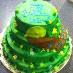 Hobbit cake Hobbit Cake, Party Rings, Party Stuff, The Hobbit, Cake Ideas, Graduation, Birthdays, Lord, Birthday Cake