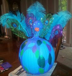 My peacock pumpkin.