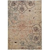 Found it at Wayfair - Terrance Ivory Floral & Geometric Area Rug