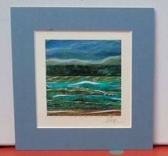 Textile Art Picture Seascape  Mounted with Envelope by Giorgann