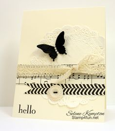 Happy Day & Modern Medley Designer Paper with Doilies