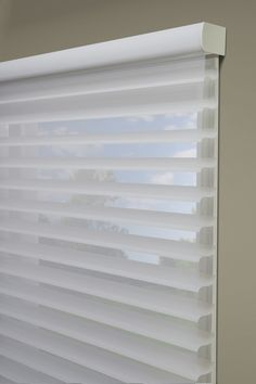Hunter Douglas Silhouette Window Shadings in an outside mount.