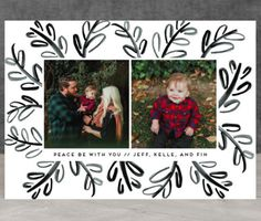 """Graphic Black and White Holiday 2016 Trend. Shop """"Funky Bunches"""" by Minted artist Annie Montgomery now."""