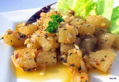 Nejedlé recepty: Salát z olomouckých tvarůžků Quinoa, Potato Salad, Recipies, Potatoes, Chicken, Meat, Ethnic Recipes, Kitchen, Czech Food