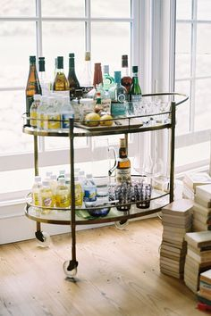 Bar Cart. We have a cart in my house now that we use as a bar... Definitely need to take that when I move out...
