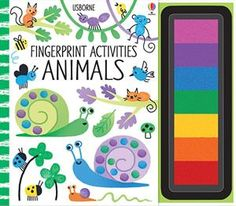 Fingerprint Activities Animals- This finger-printing book includes simple, step-by-step instructions for lots of pictures and scenes to create using only fingerprints, and a multi-coloured ink pad is attached to the side of the book, so no extra materials are required. Encourages creativity and manual dexterity.  Can't wait to receive this!!