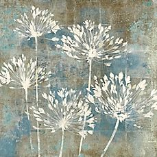 Hand-embellished for an absolutely brilliant look, the Modern Flowers Canvas Wall Art brings a distinct style to your home décor, adding a muted floral touch. The canvas print is stretched over wooden bars for easier hanging. Abstract Flowers, Watercolor Flowers, Botanical Wall Art, Art Moderne, Flower Art, Flower Canvas Art, Canvas Wall Art, Diy Canvas, Floral