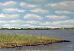 Dyke Marsh on the Potomac, in pastel.