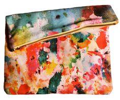 Image of Art Pop Big Zipper Clutch