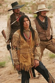Steve Zahn, David Midthunder, and Karl Urban in Comanche Moon Karl Urban, Old Movies, Vintage Movies, Native American Actors, American Indians, American Art, Comanche Moon, Old Western Movies, Cat Character