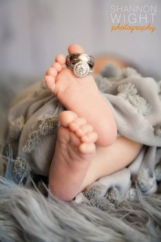 Wedding rings on little toes