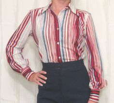 vintage 60's red white blue  http://www.ebay.com/itm/Vtg-60s-WHITE-STAG-red-white-blue-blouse-shirt-BUTTON-up-ROCKABILLY-hippie-XS-S-/200872486024?pt=Vintage_Women_s_Clothing=item2ec4eee488