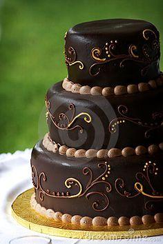 Chocolate wedding cake by Eric Limon, via Dreamstime