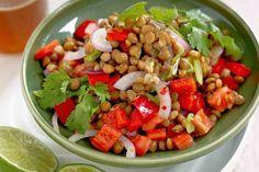 Brown lentil salad