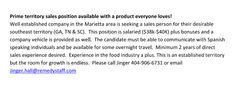 Job Available for Spanish speaking female: Sales. $40K Salary +car