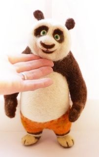Eeeeeek!!! I love Po!!! Gotta try this out! Needle felted Kung-fu Panda by svetaataman