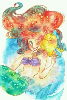 Ariel and Flounder