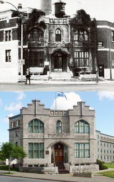 https://flic.kr/p/nLd8Lg | 1974-2008 | La maison du gouverneur de la prison des Patriotes, 901 avenue de Lorimier  Cette résidence fut construite en 1894 à l'angle de l'avenue de Lorimier et de la rue Notre-Dame pour le gouverneur de la prison des Patriotes située tout juste derrière.  Les annexes qui furent construites de part et d'autre de la résidence en 1921 lorsque celle-ci fut convertie en immeuble à bureau pour la Commission des liqueurs (actuelle S .A .Q.) furent démolies en 1989…