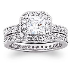 $39.99 CZ set - might make a nice wedding set when travelling (leave the real one at home)