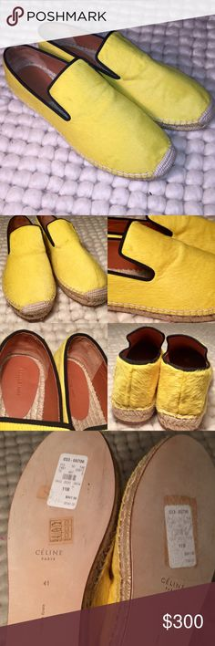 🎉FLASH SALE🎉Celine Calf Skin Espadrilles Bright Yellow Celine Calf Skin Espadrilles Sz. 11 NWT. Never worn, they have been and storage since moving. No flaws. Celine Shoes Espadrilles