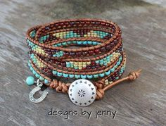 Hemp Bracelets, Leather Bracelets, Leather Jewelry, Bracelets For Men, Beaded Leather Wraps, Leather Cord, Bohemian Jewelry, Unique Jewelry, Ladder Stitch