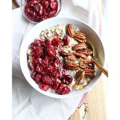 Overnight Oats With Cherry, Chia Seed And Coconut Jam