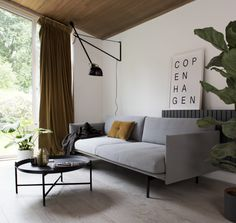 265 flos wall lamp david village lighting Copenhagen print by soouk and muuto outline sofa