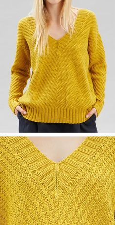 Knitting Pattern for Lizzy Pullover : Knitting Pattern for Lizzy Pullover – Long-sleeved sweater with an all-over chevron diagonal motif created with simple knits and purls. To Fit Bust : cm in). Designed by Debbie Bliss Sweater Knitting Patterns, Knitting Stitches, Knit Patterns, Sweater Weather, Crochet Patterns For Beginners, Knit Or Crochet, Pullover Sweaters, Cardigans, Chevron