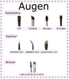 augen pinsel brushes eye