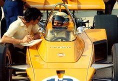 Peter Revson - McLaren M16B [2] Offenhauser 159 ci turbo - McLaren Cars - International 500 Mile Sweepstakes - 1972 USAC National Championship Trail, round 3