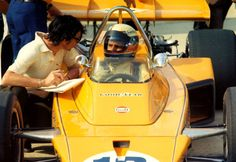 Peter Revson 1972 indy 500 McLaren M16B
