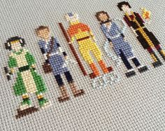 Avatar the Last Bender Cross Stitch Embroidery Thread, Cross Stitch Embroidery, Embroidery Designs, Funny Cross Stitch Patterns, Cross Stitch Designs, Crochet Bookmarks, Beaded Cross Stitch, Couture, Cross Stitching