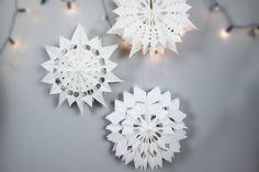 DIY Weihnachten, DIY Winter, Dekoration, Sterne aus Brottüten, Sterne aus Papiertüten, DIY Wohnen, Brottüten upcyclen, DIY Papier, Vara-Kreativa