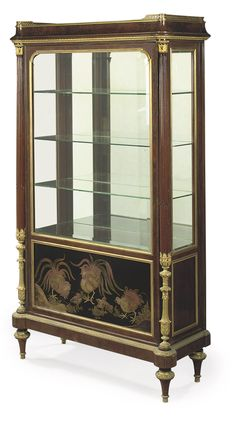 A FRENCH ORMOLU-MOUNTED MAHOGANY AND COROMANDEL LACQUER VITRINE  -  BY MAISON KRIEGER, PARIS, THIRD QUARTER 19TH CENTURY