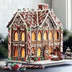 Gingerbread creation...look at the windows!