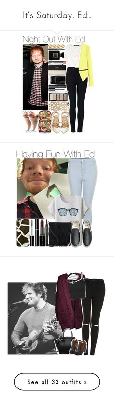 """""""It's Saturday, Ed..."""" by ladyypayne ❤ liked on Polyvore featuring BCBGMAXAZRIA, Topshop, Valentino, Casetify, Bormioli Rocco, H&M, Chanel, Forever 21, Kate Spade and Stila"""
