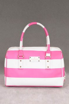 Kate Spade High Falls – Melinda-Satchel in Creme und Gula - Handtaschen Pink Handbags, Luxury Handbags, Purses And Handbags, Pink Purses, Ladies Handbags, Guess Handbags, Leather Handbags, Bags Online Shopping, Online Bags